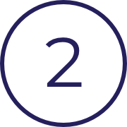 Image of the number two, indicating the second of three steps