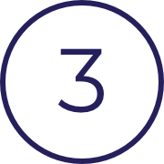 Image of the number three, indicating the third of three steps